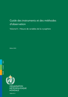 2018 - Volume II: Mesure de variables de la cryosphère - application/pdf