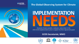 Presentation: 5b. The Global Observing System for Climate Implementation Needs: Essential climate variables, indicators and actions in the 2016 GCOS implementation plan to support the Paris Agreement goals by Carolin Richter - application/pdf