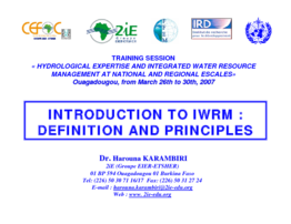 Introduction to IWRM - application/pdf