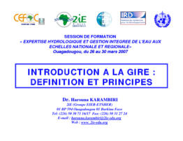 Introduction à la GIRE : définition et principes - application/pdf