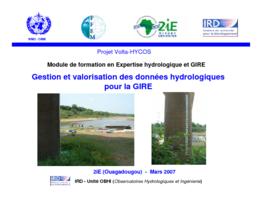 Gestion et valorisation des données hydrologiques pour la GIRE - application/pdf