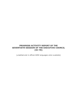 Executive Council - Abridged Final Report of the Seventieth