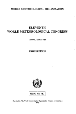 ELEVENTH WORLD METEOROLOGICAL CONGRESS