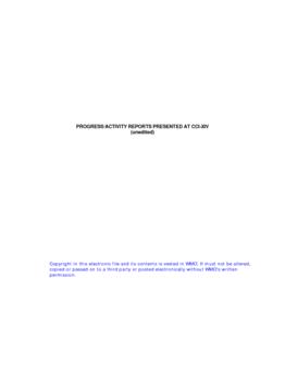 Partie II - Rapport d'activité (anglais) - application/pdf
