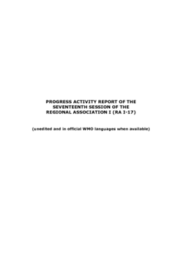 Progress Activity Report Of The Seventeenth Session Of The