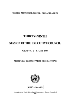SESSION OF THE EXECUTIVE COUNCIL