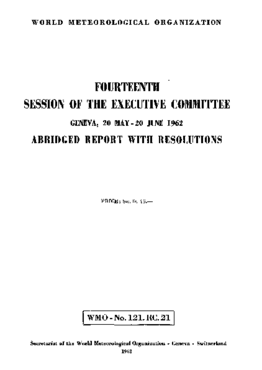 FOURTEENTH SESSION OF THE EXECUTIVE COMMITTEE
