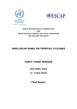 WMO/ESCAP Panel on Tropical Cyclones - Forty-third session (2-6 May