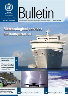 Wmo Bulletin Volume 58 No 2 April 2009 Meteorological Services For Transportation