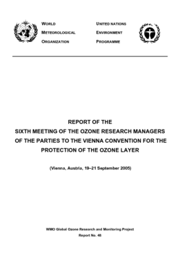 REPORT OF THE SIXTH MEETING OF THE OZONE RESEARCH MANAGERS OF THE