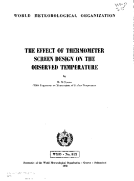 The Effect Of Thermometer Screen Design On The Observed Temperature