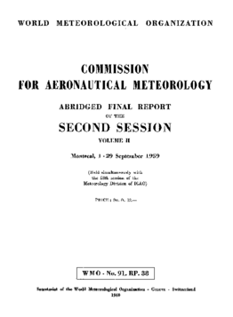 COMMISSION FOR AERONAUTICAL METEOROLOGY